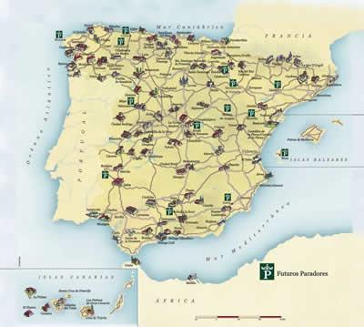 Paradores En España Mapa.Mapa Paradores Nacionales Mapa
